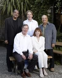 Back: Red Holloway, Ernie Watts, Jay Graydon Front: Charlie and Sandi