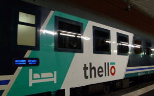 Thello train from Dijon to Venice