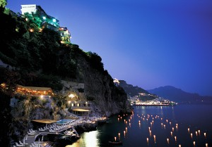 Evening View of Santa Caterina Hotel
