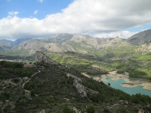 Panoramic view from Guadalest's walled old town