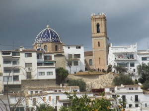 Altea on a rare cloudy day