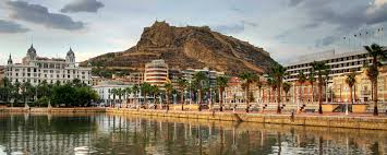 Alicante with Santa Barbara Castle on the hill