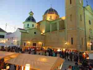Summer in Altea's Casco Antiguo with craft booths