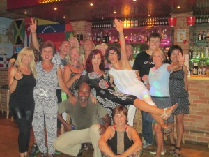 Salsa class at Bar Cuba with Ray