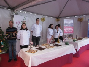Turrón samples readied for festival go-ers
