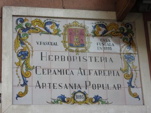 1893 ceramic business sign
