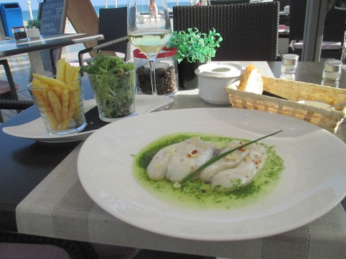 John Dory fish with salad and fries